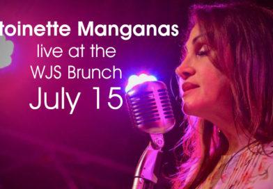 Antoinette Manganas at the Washington Jazz Society Brunch July 15