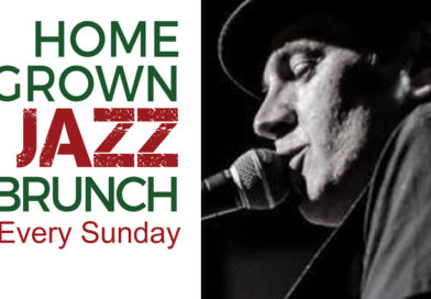 Tony Janflone Jr with Tony Janflone Sr at the WJS Jazz Brunch November 25